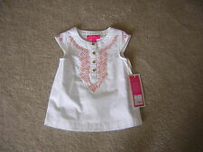 Girls 2T Top White Lilly Pulitzer For Target White Pink Embroidered Shirt Child