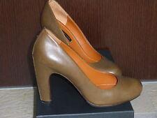 Scarpe pelle donna decolte THE SELLER 39 marrone ematite womens leather shoes