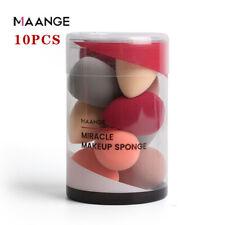 10pcs Puff Teardrop Beauty Makeup Blender Foundation Sponge Egg shape Puff Set ❤