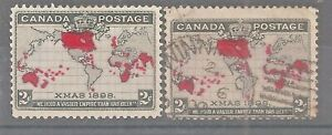Canada   Sc# 85 x 2   Used   Christmas   Cat Val $18   gtc25