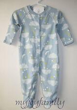 HANNA ANDERSSON Baby Organic Footed Sleeper Feet Dream Blue 60 6-9 months NWT