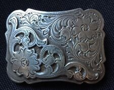 Southwestern Floral Design Small Cowboy /Cowgirl Belt Buckle USA Seller Get Fast