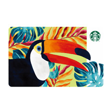 NEW 2018 STARBUCKS TAIWAN COFFEE OTG GIFT CARD  RAMPHASTOS TOUCAN FREE SHIPPING