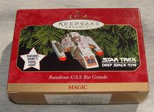 Hallmark Magic Keepsake Ornament Star Trek Runabout USS Rio Grande, Worf's voice