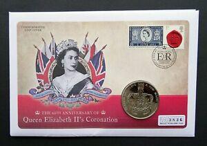 £5 Commemorative Coin Cover, COA~2013 QEII's 60th Anniversary of Coronation,