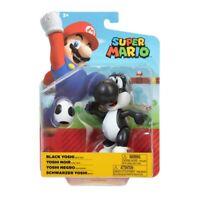 "Nintendo Super Mario 4"" Poseable Action Figure - Black Yoshi with Egg"