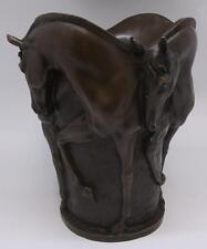 Superbe qualité bronze vase/urne-quatre chevaux