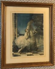 "Vintage 1920s  Columbine' ""Please Don't Go ""Webster Framed Print. VGC. 18 1/2x22"