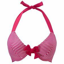 BNWT Freya Swim Tootsie Halter Bikini Top Magenta Pink 3601 size 34DD