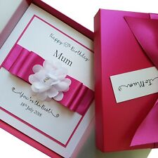 LUXURY Handmade Personalised Boxed Birthday Card Mum Wife Nan Sister Daughter