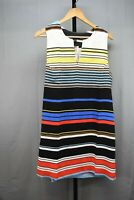 Karen Kane Modern Art Striped Shift Dress, Women's Size XL, Multi-Color NEW