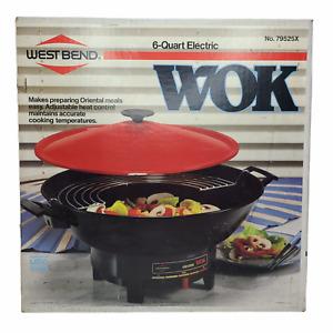 West Bend 6 Quart Electric Wok model 79525X /Vintage 1989/ New Open Box