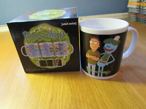 Rick and Morty Heat Change Mug Jerry and Mr MeeSeeks NEW FREEPOST