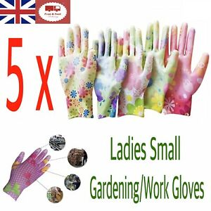 5 Pairs Ladies Gardening, Cleaning, Work Gloves Small Size. UK Stock Fast&Free