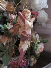 AMBER fairy figurine ornament BY Jessica Galbreth Gemstone Fairy collection NEW!