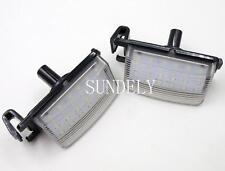2Pcs Error Free Led License Number Plate lamp light For Nissan 350Z 370Z Sentra