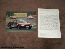 LEGOURD/VAN HEUKELOM - Toyota Corolla GT, 1987 Brno CZE Karte/card 10x15 cm, RAR