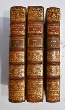 BIBLIOTHEQUE DU THEATRE FRANCOIS DEPUIS SON ORIGINE LA VALLIERE 3 vol 1778