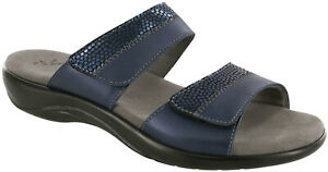 SAS Nudu Slide Sandal Navy 6.5 Wide Women's Shoes FREE SHIPPING New In Box