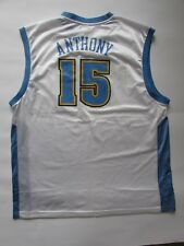 DENVER NUGGETS CARMELO ANTHONY White #15 AUTHENTIC REEBOK NBA JERSEY SIZE 2XL