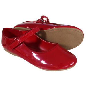 RRP - £35 BABY KIDS INFANTS GIRLS GLOSSY PATENT WEDDING PARTY XMAS SHOES Sz 4-12