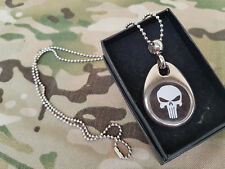 SNAKE PATCH - PENDENTIF / COLLIER - PUNISHER - us airsoft dog tags USA paintball