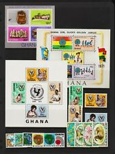 Ghana - 3 sets, 3 souvenir sheets, mint, cat. $ 35.85