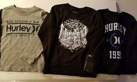 Hurley  Toddler Boys Long Sleeve T Shirt  Size 3T or 4T NWT