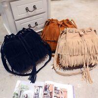 Fashion Women Tassel Shoulder Bag Satchel Crossbody Tote Handbag Purse Messenger