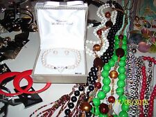 GENUINE MOTHER OF PEARL HEART BRACELET & EARRING SET, & LOTS OF EXTRA JEWELRY FS