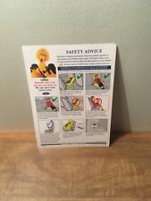 1997 Ford Motor Company Safety Advice Brochure w/ Sesame Street's Big Bird