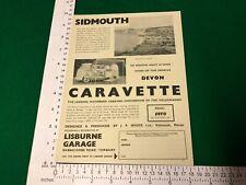 Sidmouth magazine cutting 1963 VW Caravette camper van Lisburne Garage Torquay