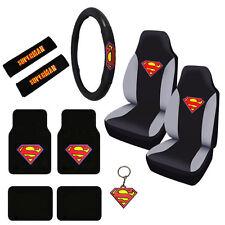 New Superman Logo Car Truck Seat Covers Steering Wheel Cover & Floor Mats Set