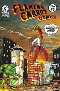 Flaming Carrot #25 Teenage Mutant Ninja Turtles Dark Horse Comics Burden 1991