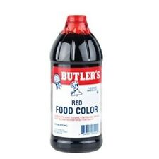 Butlers Red Food Coloring - Large 16 Oz Bottle - Free Expedited Shipping!!