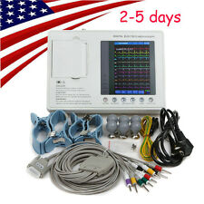 7 inch Color LCD Digital Electrocardiograph ECG/EKG 3 Channel 12 Leads software