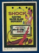 1980 Topps Wacky Packages #196 Shock Electric Razor (VG-EX) Album Sticker