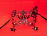 Maschera Pizzo Di Metallo Di Venezia Farfalla E Stella Multicolore Lucido 726