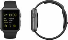 Apple Watch Sport Generation 1 (A1554) 42mm Space Grau Sportband Schwarz