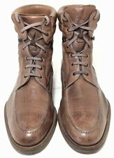 Magnanni Men's Brown Leather Hook Lace Up Spain Ankle Boots US 9M