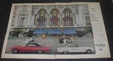 Print Ad  1963 FORD 2-page white Falcon Hardtop red Super Torque Sports Monaco