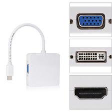 3 in 1 Mini DP Displayport Thunderbolt to HDMI DVI VGA Adapter for notebook
