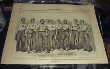 Rare Original 1867 Harpers Weekly Champion Nine Union Baseball Team Photo