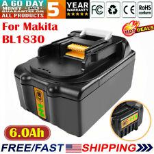 18V 6.0Ah Li-ion Battery for Makita BL1830 BL1840 BL1860 BL1850 194205-3 Tools