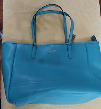 Coach Handbag, Leather, Turquoise