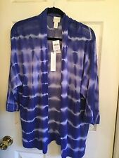 NWT CHICO'S PURPLE FARIDA TIE DYED CARDIGAN SIZE 0