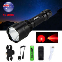Military 5000Lm XML T6 LED Tactical USB Flashlight Torch Hunting 18650 Light
