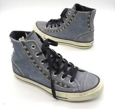CONVERSE Size 6.5 Blue All Star Chuck Taylor Studs Eyerow High Top Sneakers
