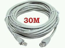 Extra Larga/30M CAT5e RJ45 Red LAN Ethernet Patch Cable de plomo. alta Calidad