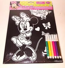 Disney Minnie Velvet Coloring Sheet With Markers - ages 3+